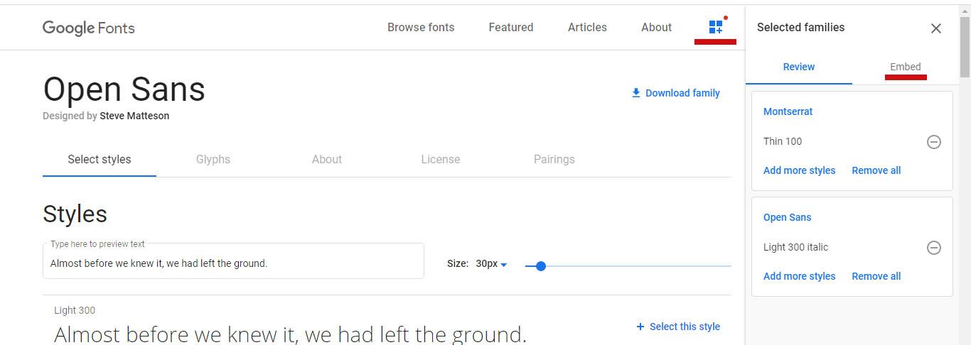 Подключить шрифт googlefonts